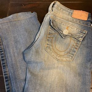 "True Religion ""Billy"" bootcut with crystal buttons"